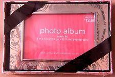 Valentines Day Photo Album Metallic Scroll Lace Design Keepsake