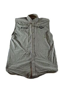 Ariat Pro Series World Series of Roping Logo Sleeveless Shirt Vest Size Medium