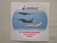 AUTOCOLLANT STICKER DASSAULT AVATION 51e SALON BOURGET RAFALE nEUROn FALCON