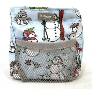 "Thirty-One Holiday Christmas Small Cube 6"" Square Tote Bag Caddy 100% Polyester"