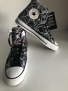 Converse Chuck Taylor All Star Hi Unisex Shoes Spider  Size M7.5 / W 9.5 170938C