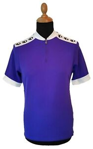 PEARL IZUMI Cycling Jersey L Men Purple Short Sleeve Made in USA Polyester