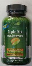 Irwin Naturals TRIPLE-DIET Max Accelerator 78 SoftGels No Stimulants, NEW