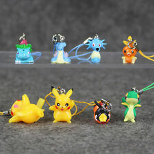 Pokemon keychain Pendant cellphone strap Pikachu Movie Plush Figures 8pcs/lot