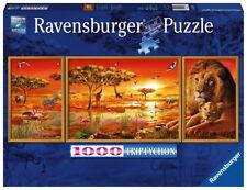 1000 Teile Ravensburger Puzzle Triptychon Afrikanische Impressionen 19836