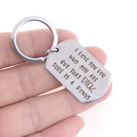 Creative Boyfriend KeyRing Key Chain Jewelry Gift I Love You For Who You Are EP