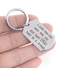 Creative Boyfriend KeyRing Key Chain Jewelry Gift I Love You For Who You Ahz