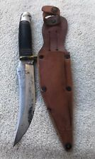 Vintage Western Boulder Colo. USA Bowie Knife with Leather Sheath