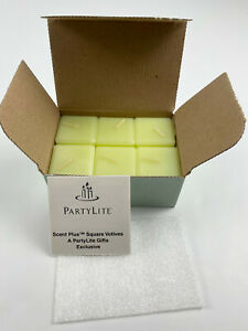 Partylite Square Votive Candles Lemongrass Scent Plus New in Box