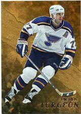 98-99 BE A PLAYER BAP GOLD #275 PIERRE TURGEON BLUES *33127