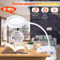 10X Desk Magnifier LED Light Magnifying Glass Lamp Clamp For Tattoo Nail Art DIY