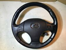 2005 - 2013 LEXUS IS220 IS250 STEERING WHEEL BLACK LEATHER A/BAG CONTROLS BUTTON