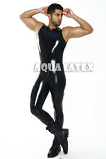 Tanked Smooth Suit Rubber Latex Bodysuit Tank Wrestler Outfit Men Latex Clothing