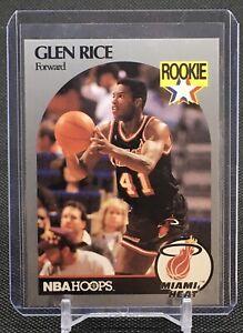 1990-91 NBA Hoops GLEN RICE ROOKIE CARD #168 RC Miami Heat Lakers NBA