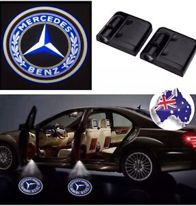 2pc Wireless magnetic car Door Light Courtesy LED Logo  Projector For Mercedes