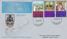 BERMUDA 1977 SILVER JUBILEE OFFICIAL FIRST DAY COVER FDI CANCEL (a)