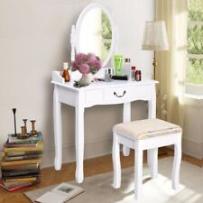 New Makeup Dressing Table Vanity and Stool Set White Makeup dresser
