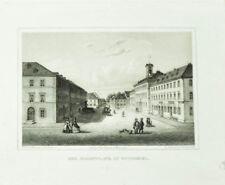c1860 Wunsiedel Marktplatz Stahlstich-Ansicht