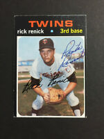 Rick Renick Twins Signed 1971 Topps Baseball Card High #694 Auto Autograph
