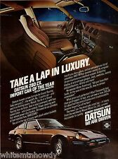 1979 DATSUN 280-ZX Vintage Car Photo AD w/ interior dash view