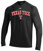 Texas Tech Red Raiders Black Under Armour Catalyst Long Sleeve T Shirt
