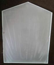 Flapper Replacement etched frosted clear glass shade globe for art deco lamp