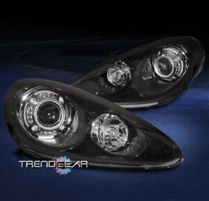 For 2011-2014 Porsche Cayenne Bi-Xenon Adaptive LED Projector Headlights Black