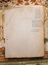 1947 JACQUES DEVAL - ORIGINAL CARBON TYPESCRIPT - LA FEMME DE TA JEUNESSE