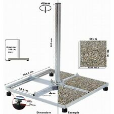 Support 4 Traverses de 50 x 50 cm Hauteur 1m Support parabole chassis terrasse