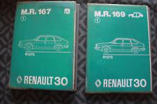 LOT DE 2 MANUELS DE REPARATION CONSTRUCTEUR MR 167 MR 169 RENAULT 30 ORIGINE