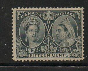 Canada Sc 58 1897 15 c steel blue Victoria Jubilee stamp mint