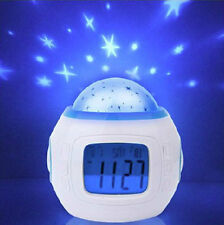 New Music Star Sky Projection Calendar Thermometer Digital Alarm Clock