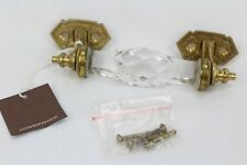 Vintage Brass Clear Glass Church Art Decor Victorian Door Handle India