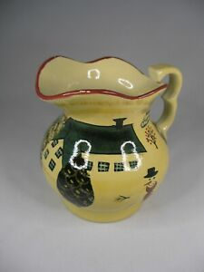 Winter or Christmas Themed Hand Painted Ceramic Pitcher