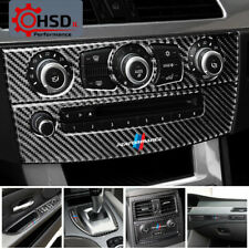 Carbon Fiber Interior Gear Shifter Modification Air CD Panel Sticker For BMW E60