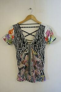 Save The Queen! Multicoloured Floral Pattern Top (UK Size 10)