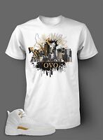T Shirt to Match AIR JORDAN 12 OVO Shoe White SS Tee Tribute to Drake and Music