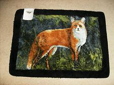 "Deluxe Fox Throw Rug~26"" x 36"" Hautman Brothers New skid resist latex Washable"