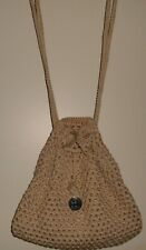 THE SAK BEIGE BACKPACK PURSE CROCHETED