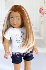 American Girl doll Natural wig Chocolate Marbling Fits most 18''dolls Blythe OG