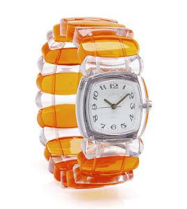 TWT Designer Watch - Orange/Clear