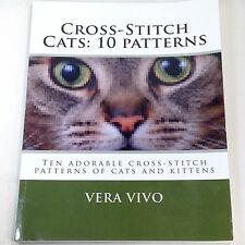 10 Detailed Realistic Cats Kittens Cross Stitch Patterns Paperback Book Vivo Usa