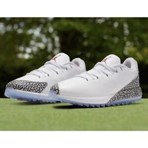 Air Jordan ADG Golf (Men's Size 15) Shoes White Elephant Print Golf Sneaker