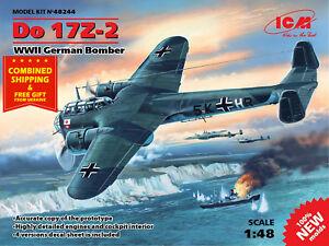 ICM 48244 -  1/48 Do 17Z-2 German Bomber, WWII, scale plastic model kit