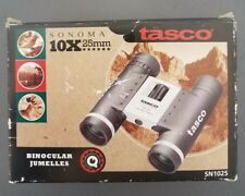 Tasco Sonoma Binoculars 10 × 25 mm New In Box Case Strap Instructions Lens Cloth
