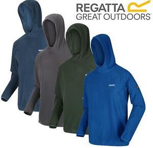 Regatta Mens Hooded Montes Lightweight Micro Rib Fleece Hoody Jumper Sweater Top