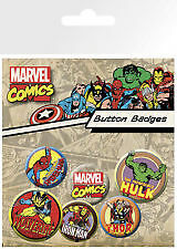 Marvel Comics Characters Button Badges Pack Film Memorabillia Accessory