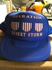 Vintage Operation Desert Storm 3 Shield Snapback Hat Mesh Hat Cap War