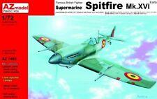 AZ Model 1/72 Spitfire MK XVI Early British Fighter Model Kit 7485
