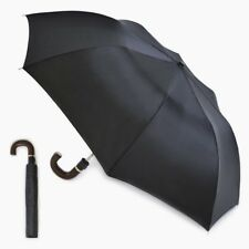 Mens Black Folding Umbrella with Sleeve  AUTOMATIC RELEASE UMBRELLA Compact